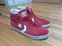 High top red suede converse all star  Calgary, T3E 1C1