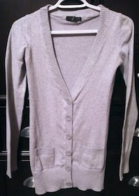 Women's Grey Cardigan - Small Red Deer, T4P 4G5