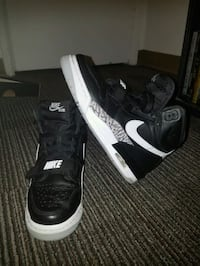 pair of black-and-white Nike basketball shoes Edmonton, T5W 1E1