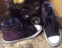 All Star Converse purple, black, & white high top sneakers Calgary, T2J 1V4