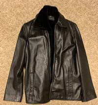 Woman's Black Faux Leather (Small) Jacket