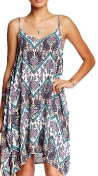 Women's blue and white floral dress Sanford, 27330