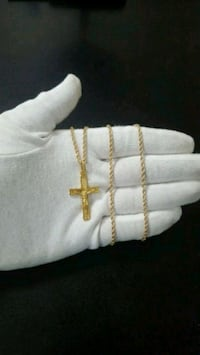 "10K Gold Crucifix + 10K Gold Rope Chain 2.5mm 24"" Mississauga, L4Y 4G4"