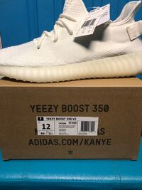 white and black adidas Yeezy Boost 350 v2 shoe Bowie, 20715