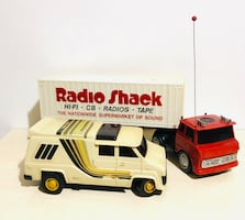 Vintage Radio Shack Van and Truck and Trailer