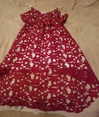 Red lace cocktail dress, size L Athens, 35611