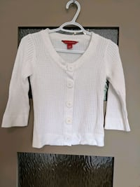 White cardigan sweater 3/4 sleeve size xs/small