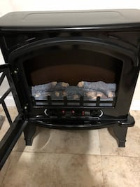 black and gray electric fireplace Dumfries, 22026