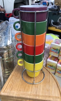 6 piece stackable cups with stand Ventura, 93001