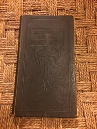Vintage One Hundred And One Famous Poems 1924 Revised Edition Brown Leather Castle Hayne