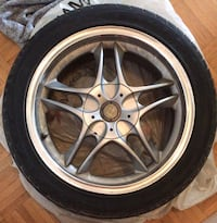 4 tires on rims COMES AS IS!!!