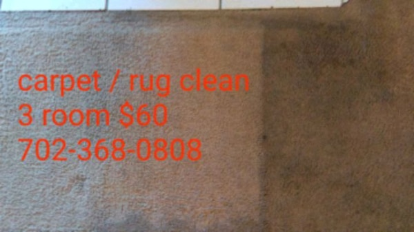 Carpet cleaning. 3 rooms $60
