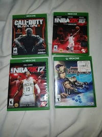 four Xbox One game cases