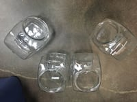four clear glass candle holders Toronto, M4G 1Y9