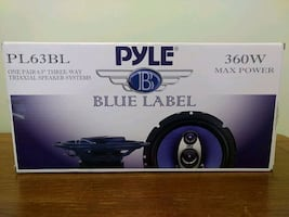 "Two Pair Pyle Blue Label 6.5"" 360 W 3-Way Triaxial Speaker Systems"