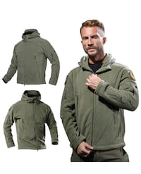 Brand new Men's Winter Warm Hooded Military Tactical Polar Jacket
