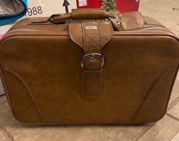 AIRWAY LEATHER SUITCASE