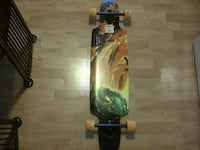 black and yellow skateboard deck VANCOUVER