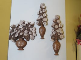 3 Piece Decorative Floral Wall Art