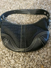 black and gray Coach leather hobo bag Boulder, 80303