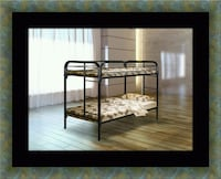 Twin bunk bed frame with mattress New Carrollton