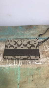 Brown and black monogram coach leather wristlet Vaughan, L6A 3E7