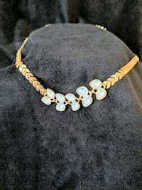 *NEW w/ TAGS* Light Blue Leaf Accent Necklace Leesburg, 20176