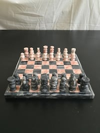 "Miniature marble chess set - 7.5"" (1 - 1.25""/pieces)= New! Arlington, 22204"