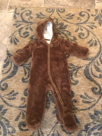 brown and white fur coat Porter, 77365