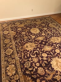 Burgundy and gold floral rug Washington, 20009