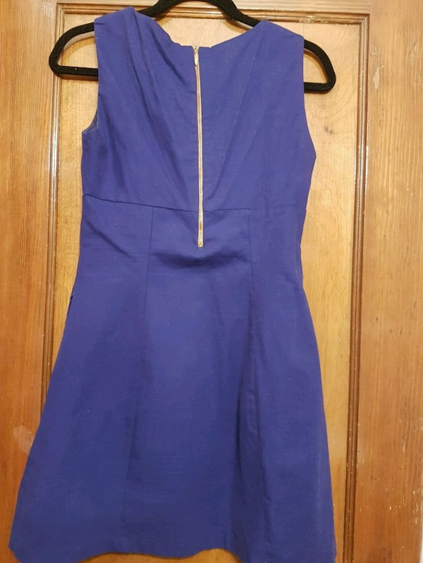 Womens purple sleeveless canvas dress 04913b64-7b52-4618-b83a-c099f4a3f55c