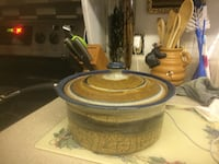 brown and blue ceramic casserole with lid Clearwater, 33760