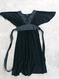 black and gray scoop-neck cap-sleeved dress Moreno Valley, 92557