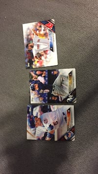 three baseball player trading cards Eustace, 75124