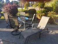 Outdoor Patio - chairs, table, lounger Port Coquitlam, V3B 3R7