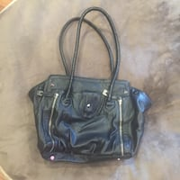 Black Zipper Purse Woodbridge