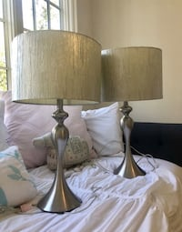 Silver Lamps Pair  Charlotte
