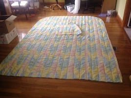New Twin Size Comforter Light Weight Multicolored With 1Sham Set
