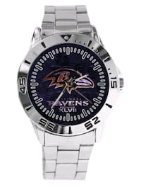 Baltimore Ravens stainless steel quartz wrist spor Baltimore