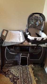 baby's black and white travel cot Edmonton, T5A 4A8