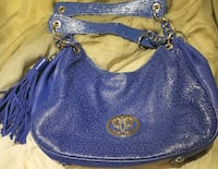SHARIF BLUE LEATHER BAG Manassas