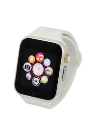 New smart watch white, works with iPhone Samsung and LG, brand new in box