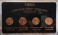 1960 Lincoln Cent Type Set Baltimore, 21206