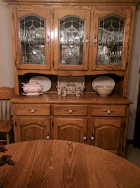 Solid oak glass china cabinet and dining set Waynesboro, 17268