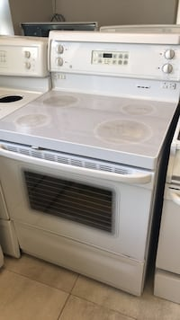 white and black induction range oven Toronto, M9M
