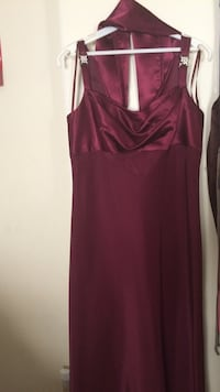 maroon sleeveless dress with scarf Beltsville, 20705