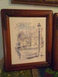 brown wooden framed painting of man Toronto, M4C 1H6