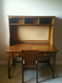 brown wooden desk with hutch Apopka, 32712