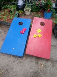 Cornhole Boards with bean bags
