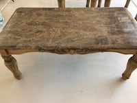 Faux Marble Coffee Table and 2 End Tables HENDERSON